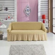 Чехол на диван двухместный бежевый RT-06