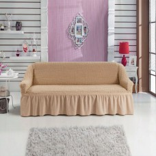Чехол на двухместный диван с подлокотниками медовый RT-14