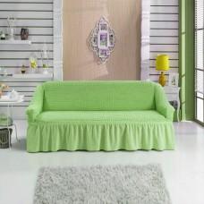 Чехол на диван двухместный салатовый RT-10
