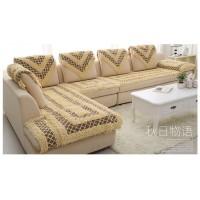 Комплект многофункциональных дивандеков песочные с коричневыми вставками BW-09