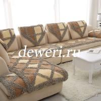 Комплект многофункциональных дивандеков серо/беж/коричневый BW-03