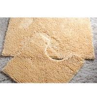 Комплект ковриков для ванной и туалета светло коричневые 08