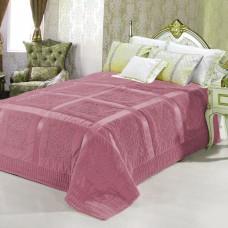 Покрывало из искусственного меха Versace розовый QW-134
