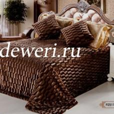 Покрывало на кровать 220х240 кубик коричневый QW-109