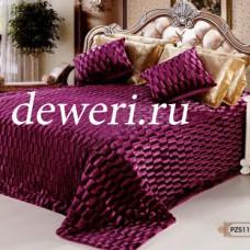Покрывало на кровать 220х240 кубик фиолетовый QW-111