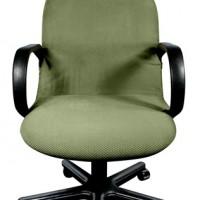 Чехол на компьютерное кресло Бирмингем оливковый