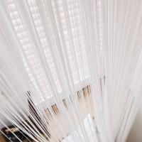 Нитяные шторы однотонные белый TT-100