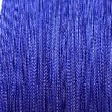 Нитяные шторы однотонные синий TT-101