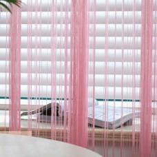 Нитяные шторы однотонные нежно розовый TT-102