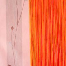 Нитяные шторы однотонные оранжевый TT-108