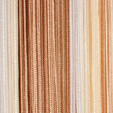Нитяные шторы, кисея радуга белый, бежевый, шампань TT-302