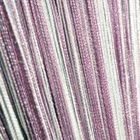 Шторы нитяные радуга с люрексом темно сиреневый, светло сиреневый, белый TT-0608