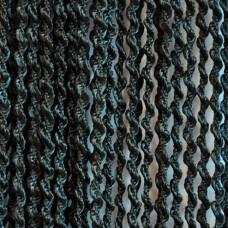 Шторы нитяные спирали однотонные с люрексом черный TT-203