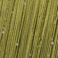 Нитяные шторы, кисея однотонная с пайетками оливковый TT-505