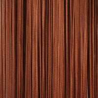 Нитяные шторы однотонные коричневый TT-118