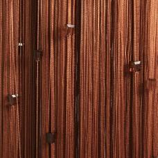 Нитяные шторы однотонные с камешками светло-коричневый TT-716