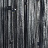 Нитяные шторы однотонные с камешками темно-серый TT-721