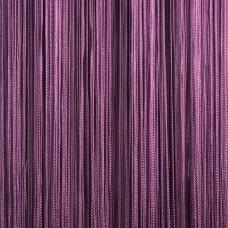 Нитяные шторы однотонные сливовые TT-119