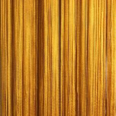 Шторы кисея однотонные золотые TT-120
