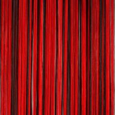 Кисея радуга красный, черный TT-313