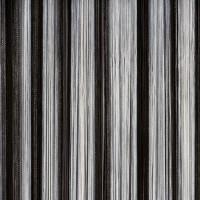 Нити шторы, кисея радуга черный, серый, белый TT-316