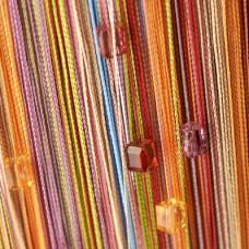 Нитяные шторы радуга с кубиками TT-806