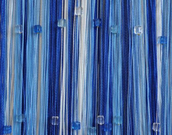 Нитяные шторы радуга с кубиками TT-818