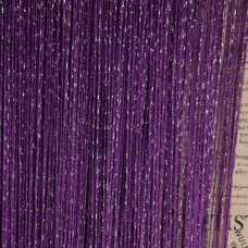Шторы нити однотонные с люрексом фиолетовый TT-22