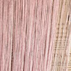 Шторы нити однотонные с люрексом розовый TT-20