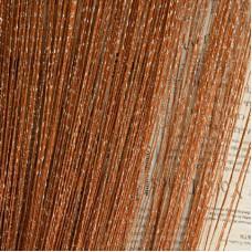 Шторы нити однотонные с люрексом светло-коричневые TT-15