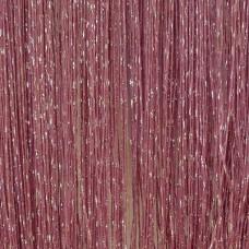 Шторы нити однотонные с люрексом темно-розовый TT-23