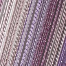 Шторы нитяные радуга с люрексом TT-0601