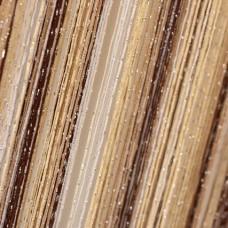 Шторы нитяные радуга с люрексом коричневые, бежевые, белые TT-0607