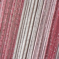Шторы нитяные радуга с люрексом TT-0612