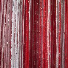 Шторы нитяные радуга с люрексом TT-0615
