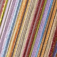 Шторы нитяные радуга с люрексом TT-0633