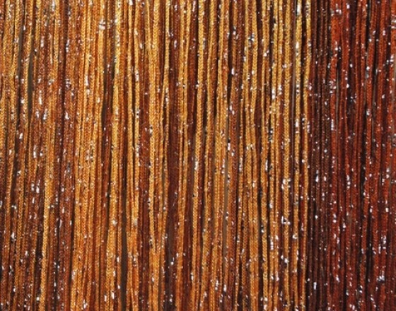 Шторы нитяные радуга с люрексом TT-0635