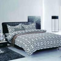 Комплект постельного белья черно белое Black&White ромб B-1003