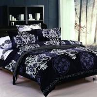 Комплект постельного белья черно белое Black&White B-1005