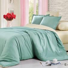 Однотонное постельное белье сатин TENCEL E-002
