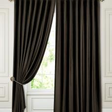 Комплект штор блэкаут на ленте ткань Бархат, Венге