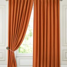 Шторы блэкаут на ленте ткань Бархат, цвет: Терракотовый