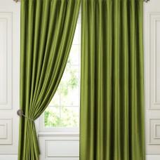 Комплект штор блэкаут на ленте ткань Бархат, Зеленые