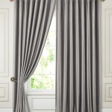 Комплект штор в спальню блэкаут на ленте ткань Бархат, Серые