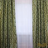Комплект штор блэкаут на ленте вензеля Зеленые