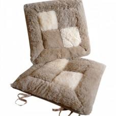 Меховая сидушка для стула T-01
