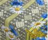 Скатерть на стол из рогожки Васильки
