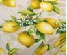Скатерть на стол из рогожки Лимоны