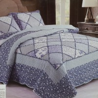 Хлопковое покрывало на кровать с наволочками QW-227
