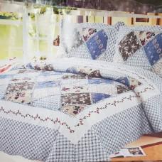 Хлопковое покрывало на кровать с наволочками QW-275